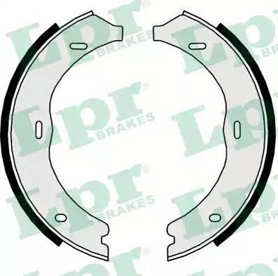 LPR 09720 - Комплект тормозных колодок, стояночная тормозная система autodnr.net