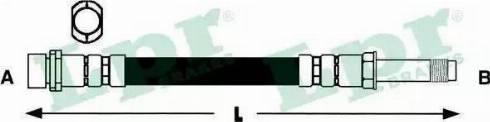 LPR 6T47366 - Тормозной шланг autodnr.net