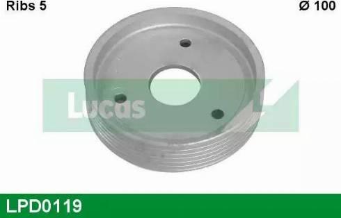 Lucas Engine Drive LPD0119 - Ремінний шків, колінчастий вал autocars.com.ua