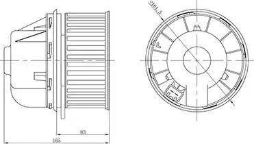 Luzar LFh 1076 - Вентилятор салона car-mod.com