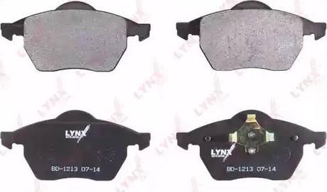 LYNXauto BD-1213 - Комплект тормозных колодок, дисковый тормоз autodnr.net