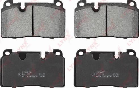 LYNXauto BD-1228 - Комплект тормозных колодок, дисковый тормоз autodnr.net
