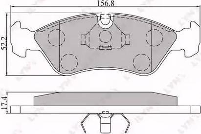 LYNXauto BD-1402 - Комплект тормозных колодок, дисковый тормоз autodnr.net