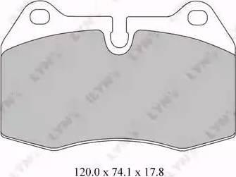 LYNXauto BD-1416 - Комплект тормозных колодок, дисковый тормоз autodnr.net