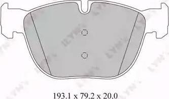 LYNXauto BD-1418 - Комплект тормозных колодок, дисковый тормоз autodnr.net