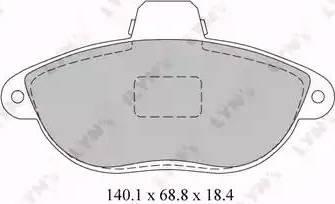 LYNXauto BD-2213 - Комплект тормозных колодок, дисковый тормоз autodnr.net