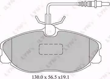 LYNXauto BD-2221 - Комплект тормозных колодок, дисковый тормоз autodnr.net