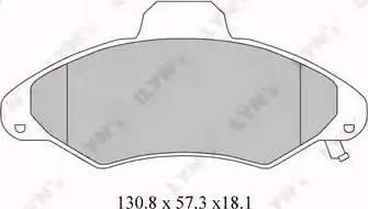 LYNXauto BD-3016 - Комплект тормозных колодок, дисковый тормоз autodnr.net