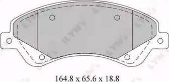 LYNXauto BD-3034 - Комплект тормозных колодок, дисковый тормоз autodnr.net