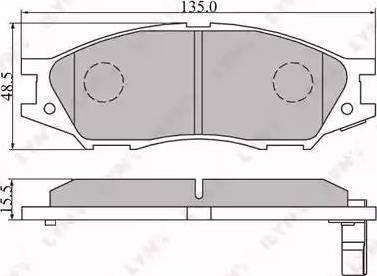 LYNXauto BD-3409 - Комплект тормозных колодок, дисковый тормоз autodnr.net