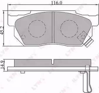 LYNXauto BD-3412 - Комплект тормозных колодок, дисковый тормоз autodnr.net