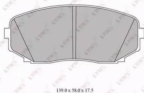 LYNXauto BD-5116 - Комплект тормозных колодок, дисковый тормоз autodnr.net