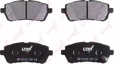 LYNXauto BD-5123 - Комплект тормозных колодок, дисковый тормоз autodnr.net