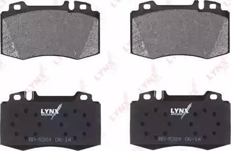 LYNXauto BD-5324 - Тормозные колодки, дисковые car-mod.com