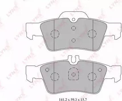 LYNXauto BD-5325 - Тормозные колодки, дисковые car-mod.com