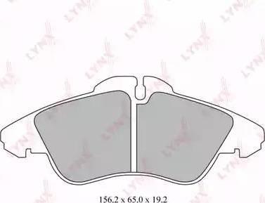 LYNXauto BD-5337 - Тормозные колодки, дисковые car-mod.com
