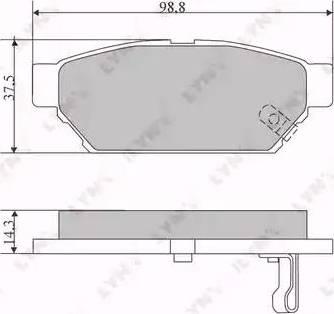 LYNXauto BD-5516 - Комплект тормозных колодок, дисковый тормоз autodnr.net
