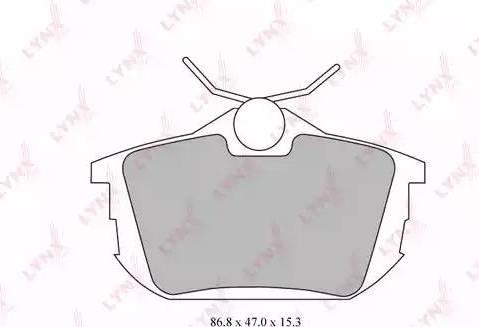 LYNXauto BD-5523 - Комплект тормозных колодок, дисковый тормоз autodnr.net