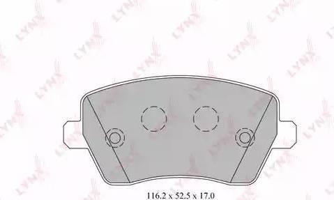 LYNXauto BD-5739 - Комплект тормозных колодок, дисковый тормоз autodnr.net