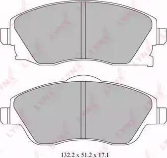 LYNXauto BD-5915 - Комплект тормозных колодок, дисковый тормоз autodnr.net