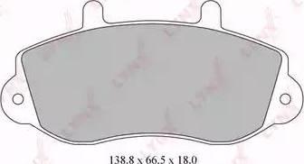 LYNXauto BD-5920 - Комплект тормозных колодок, дисковый тормоз autodnr.net