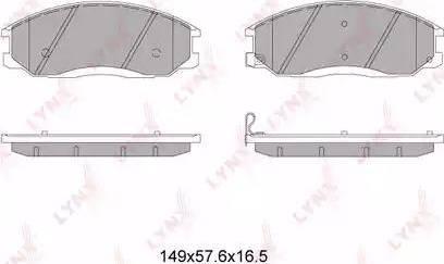 LYNXauto BD-7003 - Комплект тормозных колодок, дисковый тормоз autodnr.net