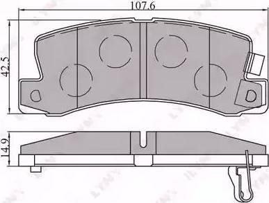 LYNXauto BD-7521 - Комплект тормозных колодок, дисковый тормоз autodnr.net