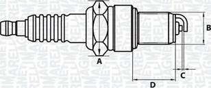 Magneti Marelli 062000771304 - Свеча зажигания autodnr.net