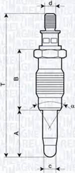 Magneti Marelli 062900005304 - Свеча накаливания car-mod.com