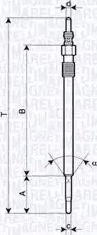 Magneti Marelli 062900030304 - Свеча накаливания car-mod.com
