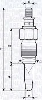 Magneti Marelli 062900056304 - Свеча накаливания car-mod.com