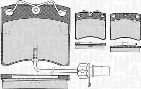 Magneti Marelli 363916060416 - Комплект тормозных колодок, дисковый тормоз autodnr.net
