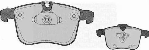 Magneti Marelli 363916060612 - Комплект тормозных колодок, дисковый тормоз autodnr.net