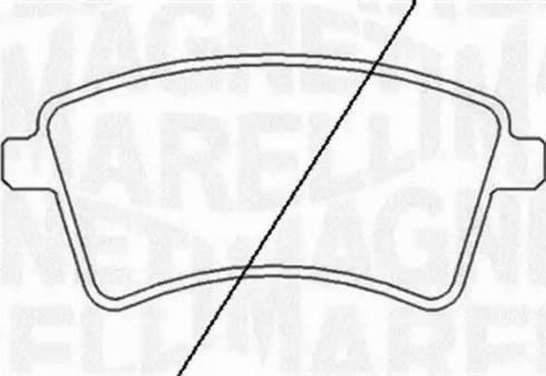 Magneti Marelli 363916060662 - Комплект тормозных колодок, дисковый тормоз autodnr.net