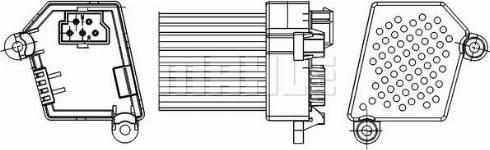 Mahle Original ABR 33 000S - Регулятор, вентилятор салона car-mod.com