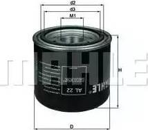 Mahle Original AL 22 - Патрон осушувача повітря, пневматична система autocars.com.ua