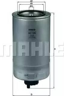 Mahle Original KC 186 - Паливний фільтр autocars.com.ua
