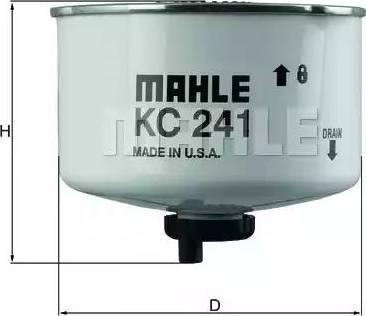 Mahle Original KC 241D - Паливний фільтр autocars.com.ua