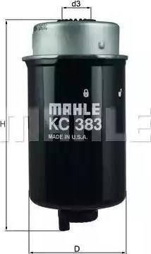 Mahle Original KC 383 - Паливний фільтр autocars.com.ua