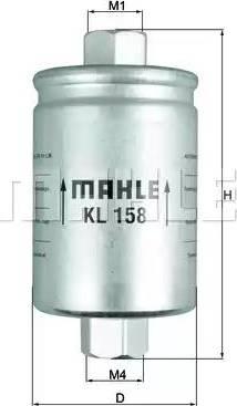 Mahle Original KL 158 - Топливный фильтр autodnr.net