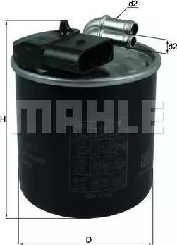 Mahle Original KL 914 - Паливний фільтр autocars.com.ua