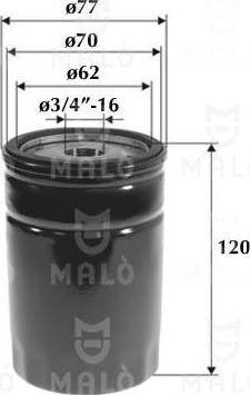 Malò 1510145 - Масляний фільтр autocars.com.ua
