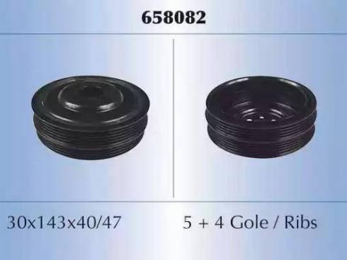 Malò 658082 - Ременный шкив, коленчатый вал autodnr.net