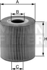 Mann-Filter HU 1077 x - Масляний фільтр autocars.com.ua