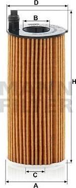 Mann-Filter HU 6014/1 Z - Масляний фільтр autocars.com.ua