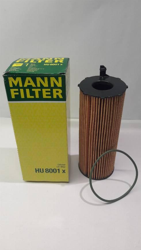 Mann-Filter HU 8001 x - Масляний фільтр autocars.com.ua