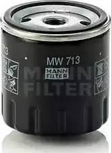 Mann-Filter MW 713 - Масляний фільтр autocars.com.ua