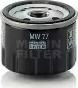 Mann-Filter MW 77 - Масляний фільтр autocars.com.ua