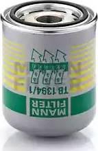 Mann-Filter TB 1394/1 x - Патрон осушувача повітря, пневматична система autocars.com.ua
