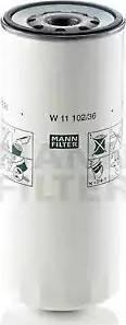 Mann-Filter W 11 102/36 - Масляний фільтр autocars.com.ua